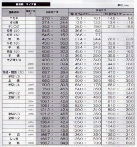(DS)日本画額寸法表